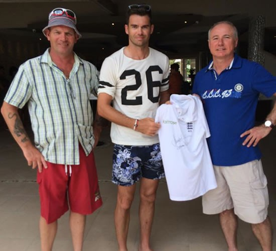 Jimmy Anderson Test Match Shirt Auction