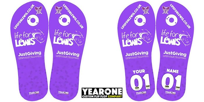 Customised Life for Lewis Flip Flops