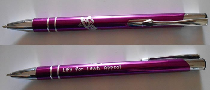 Life for Lewis Pens Merchandise