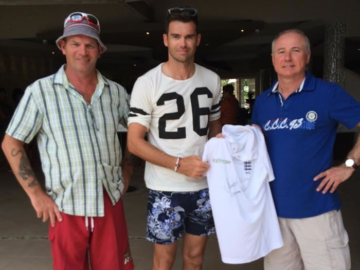 A Real Test Match Special.. A Signed Jimmy Anderson England Cricket Shirt