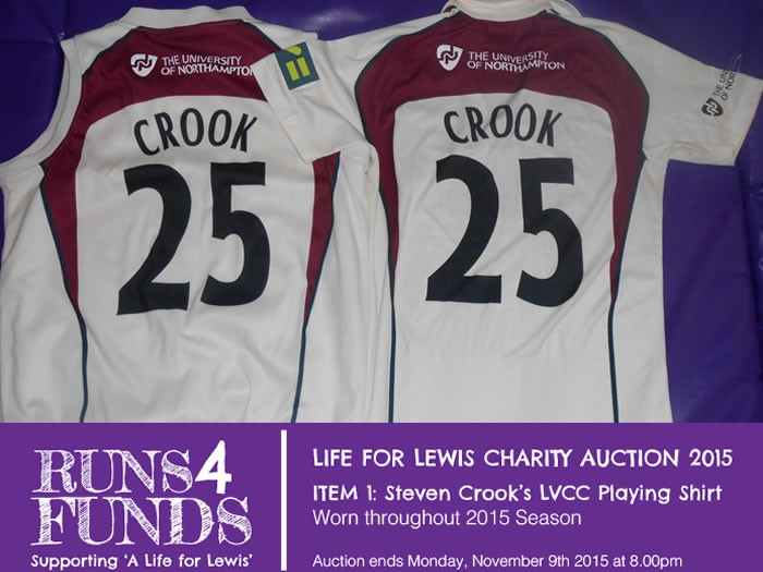 Runs 4 Funds Charity Auction.. Crooky's 2015 Championship Shirt