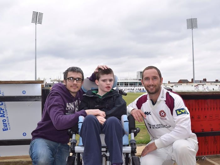 With Steven Crook at Wantage Road.. The Home of Cricket and Northamptonshire County Cricket Club