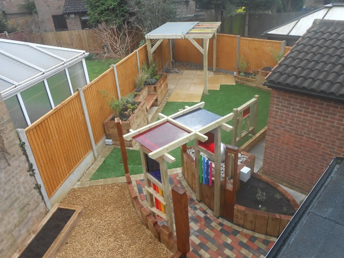 Sensory Garden Photos.. birds eye view
