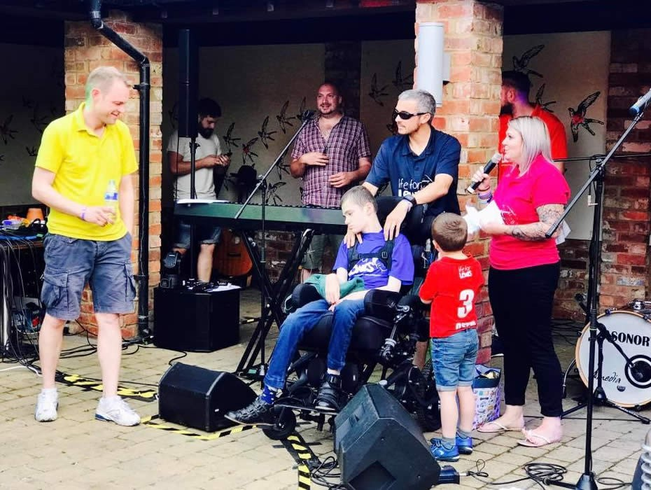 Thank You Tony Young from the Herbert's.. Charity Band Day at Old White Hart Northampton 27th August 2017