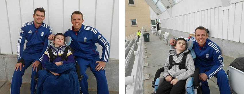 Cricket Family - Meeting Graeme Swann and Jimmy Anderson