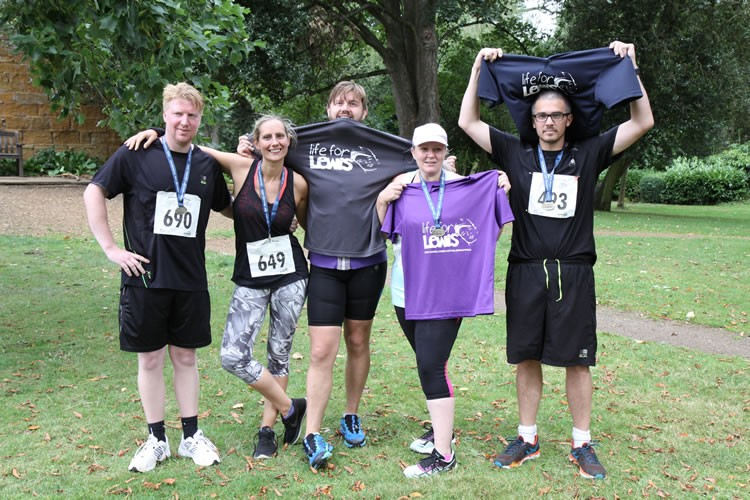 The runners and rider above are: Uncle Andrew Auntie Sarah, Uncle Matt, and mum and dad